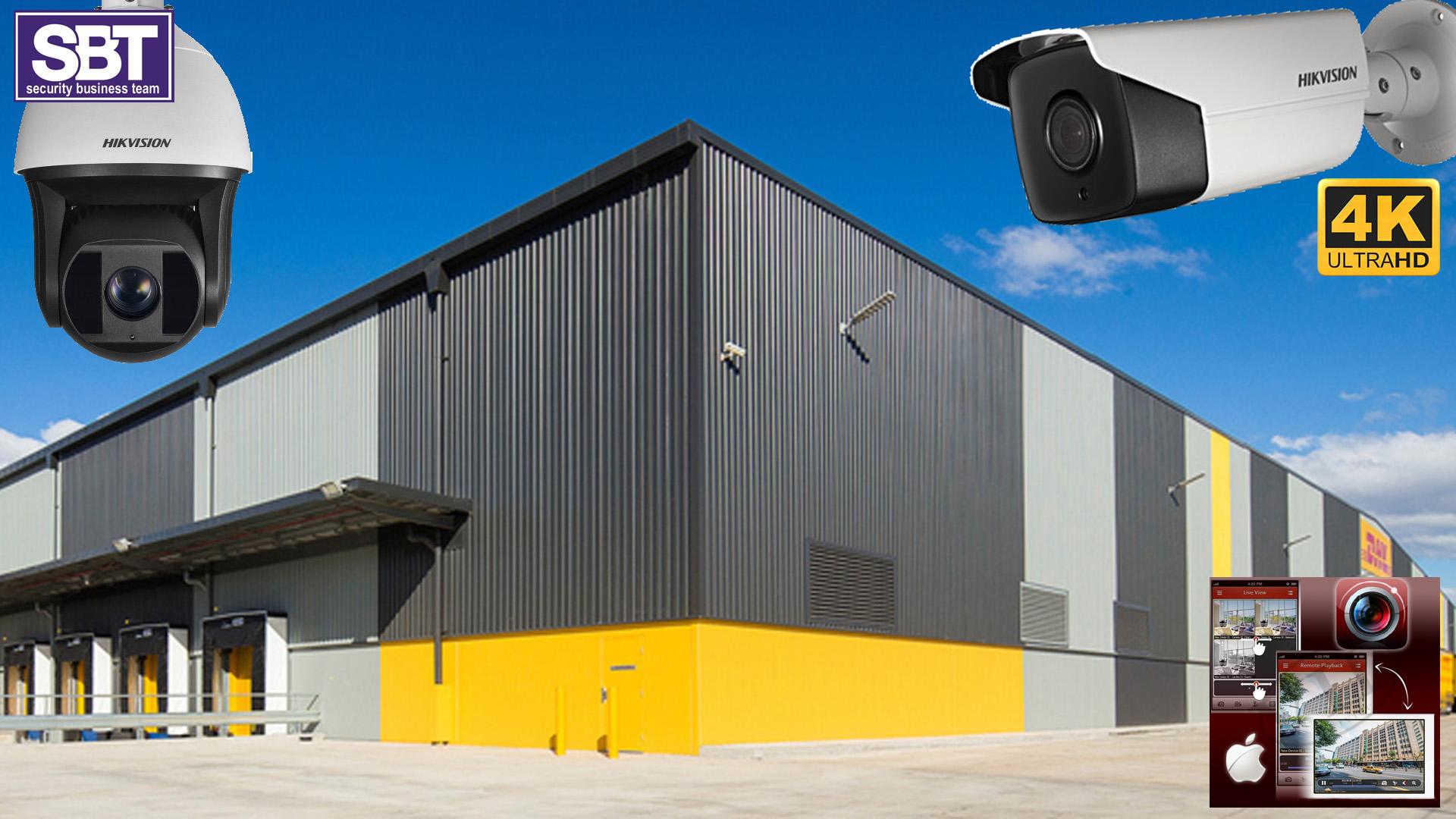 sistem supraveghere video exterior depozit SBT